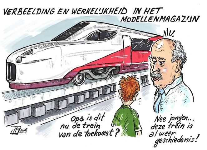 Modellenmagazijn (Cartoon Hans Proper).