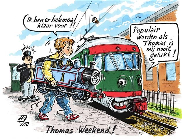 Thomas weekend (Cartoon Hans Proper).