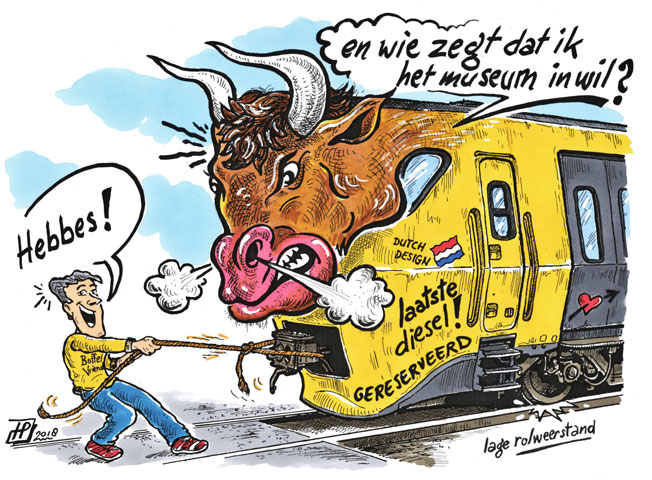 Een onwillige Buffel....? (Cartoon Hans Proper).