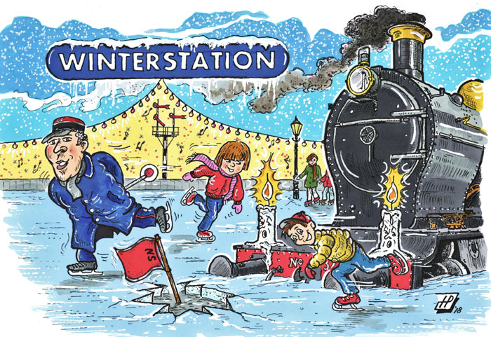 Cartoon Winterstation. (Hans Proper)